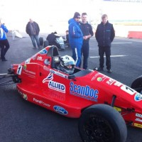 Going for a test in a Formula Ford
