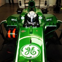 Laura's seat in the Caterham F1 car