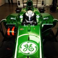 Laura's seat in the Caterham F1 car